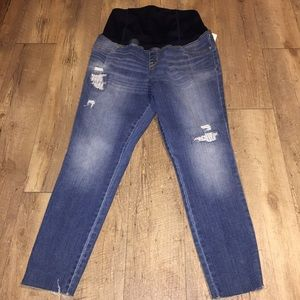Distressed maternity jeans size 12